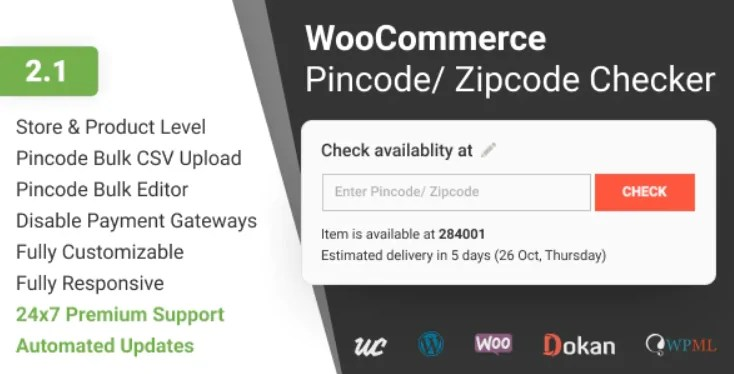 You are currently viewing WooCommerce Pincode and Zipcode Checker 2.1.0