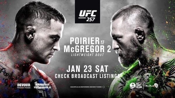 Watch Wrestling UFC 257: Poirier vs. McGregor 2 1/23/21 Live Online