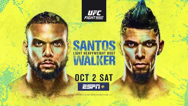 Watch Wrestling UFC Fight Night Vegas 38: Santos vs. Walker 10/2/21