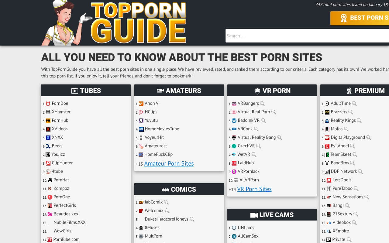 Top Porn Guide » The very best Porn List Sites 2020!