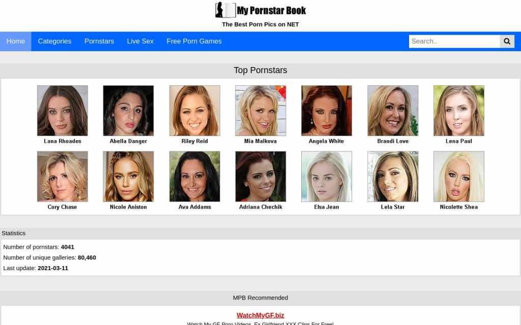 Mypornstarbook - best Pornstar Databases