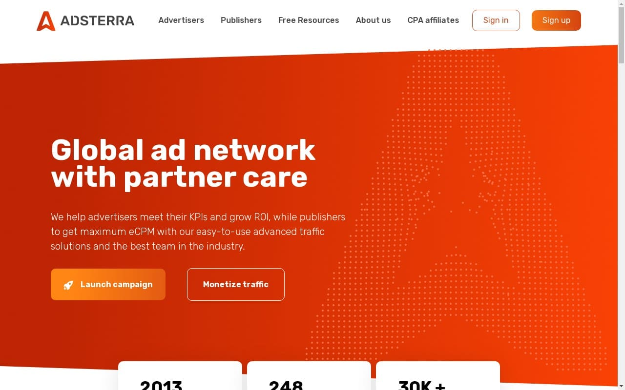 Adsterra - best Adult AD Networks