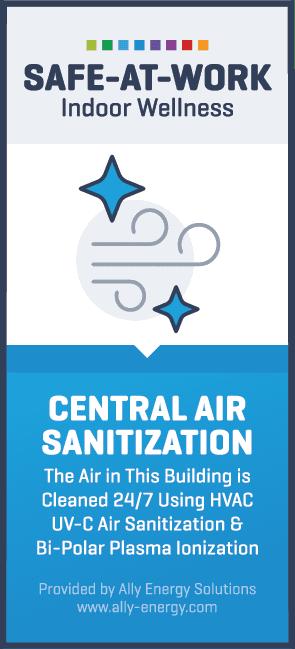 central air sanitization label vertical