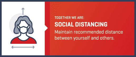 social distancing label