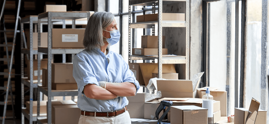 Woman contemplating employee safety