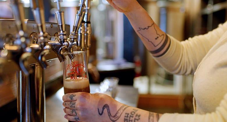 Beer tap at Mt. Rushmore Brewing