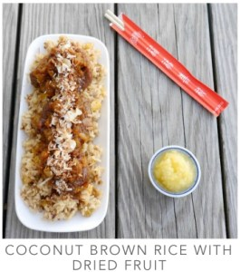 Coconut Brown Rice with Dried Fruit