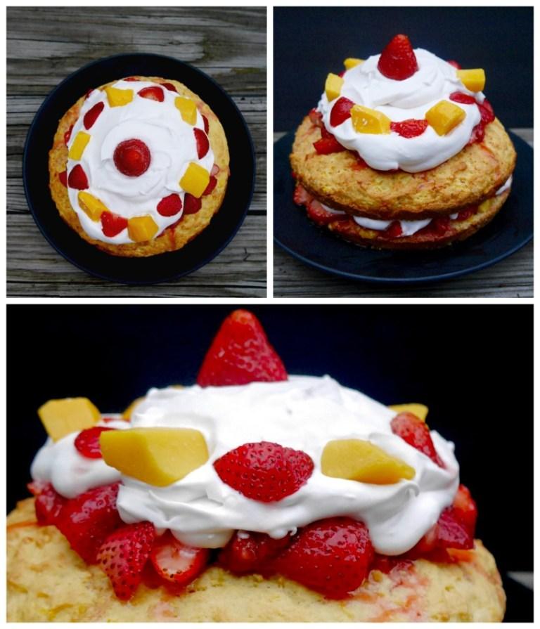 Strawberry Mango Shortcake with Coconut Whipped Cream