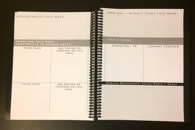 Stay Organized, Earn More, and Stress Less with the Freelancer Planner // allynlewis.com