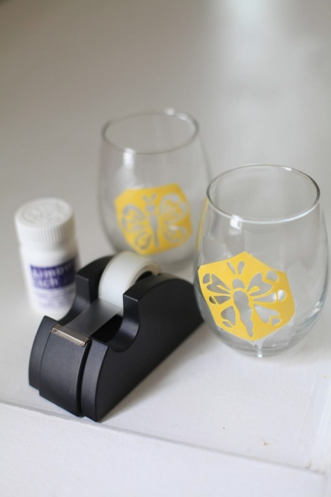 Anyone can do this etched wine glass DIY!
