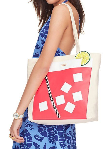 kate spade ny | breath of fresh air cocktail trompe l'oeil tote