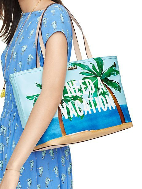 kate spade ny | breath of fresh air i need a vacation francis tote