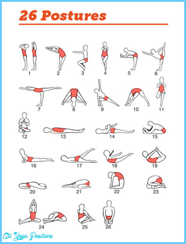 26 Hot Yoga Poses : poses, Poses, Bikram, AllYogaPositions.com