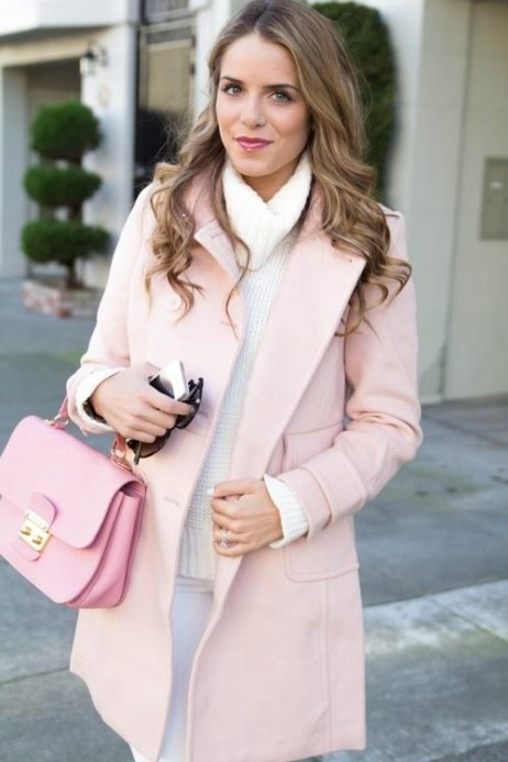 Gal Meets Glam Pale Pink Coat