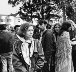 Didion in Haight Ashbury while writing 'Slouching', April 1967