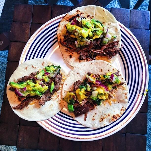 Slow Cooker Jerk Pork Tacos