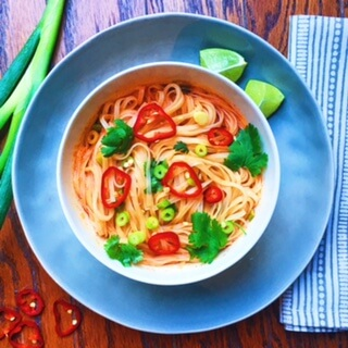 Spicy Coconut Curry Noodles