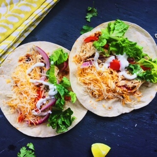 Two-Ingredient Slow Cooker Chicken Tacos