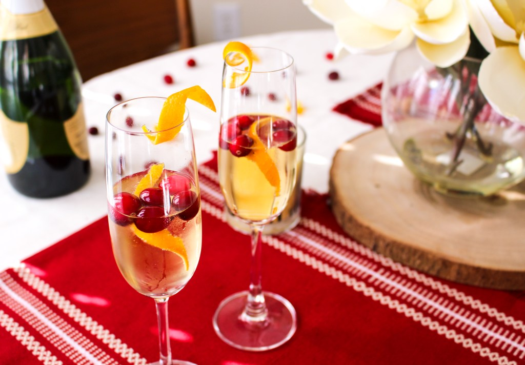 Cranberry Orange Thanksgiving Mimosa