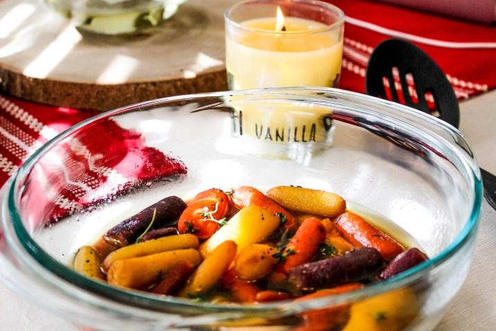 Whisky Glazed Baby Carrots