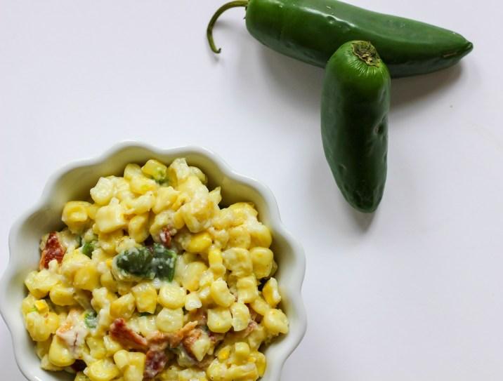 Healthier Jalapeño Bacon Creamed Corn
