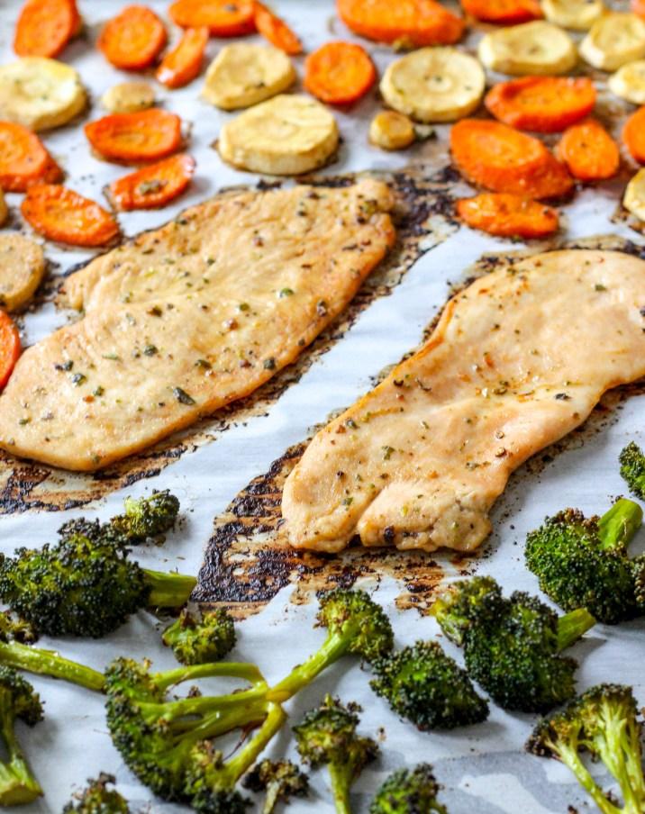 20 Minute Healthy Chicken Sheet Pan Dinner
