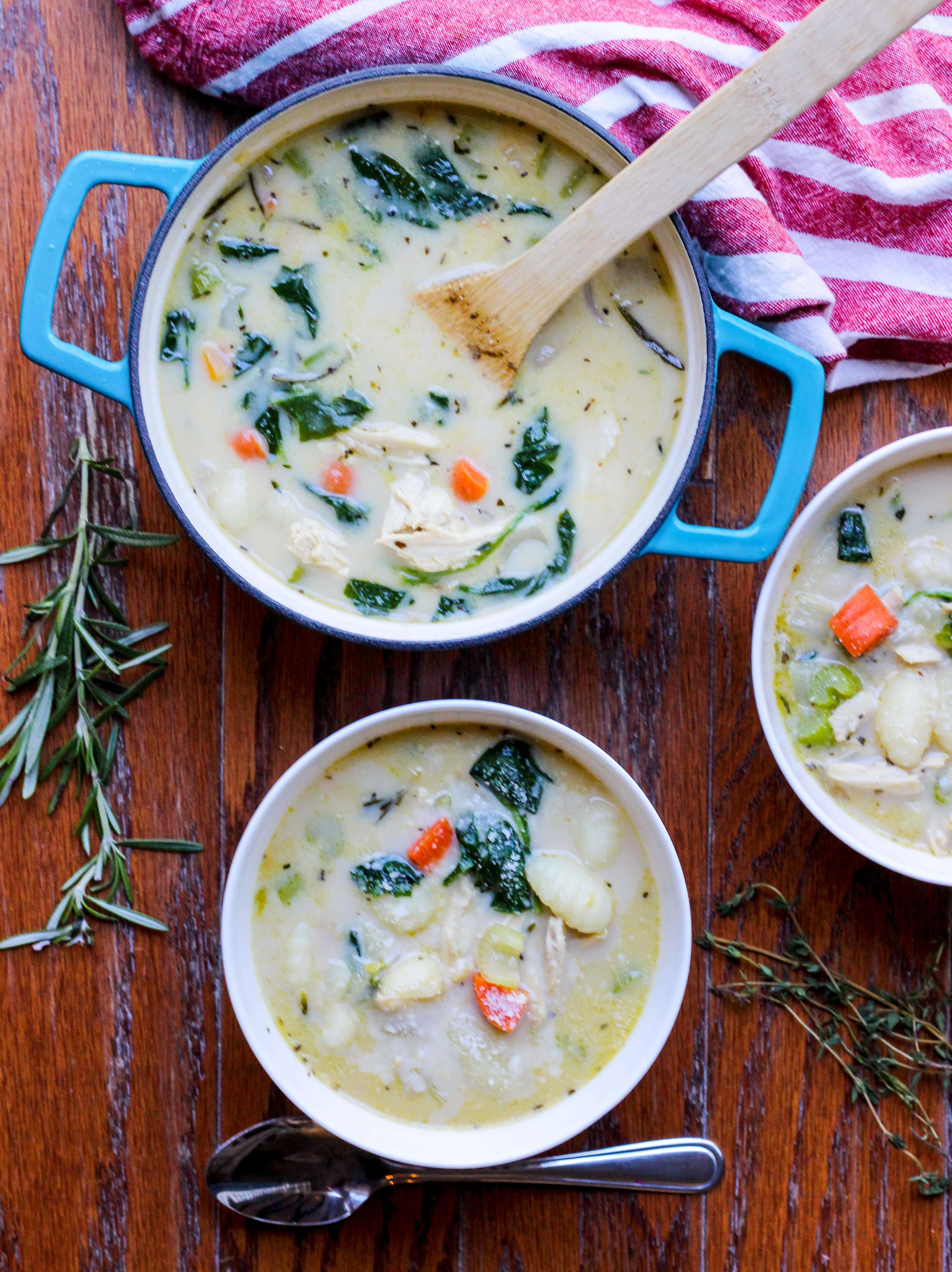Lightened Up Chicken Gnocchi Soup