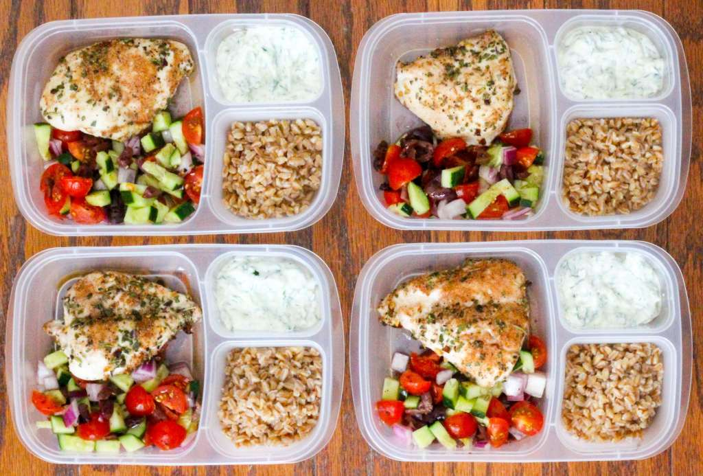 Healthy Greek Chicken Meal Prep Bowls Allys Cooking
