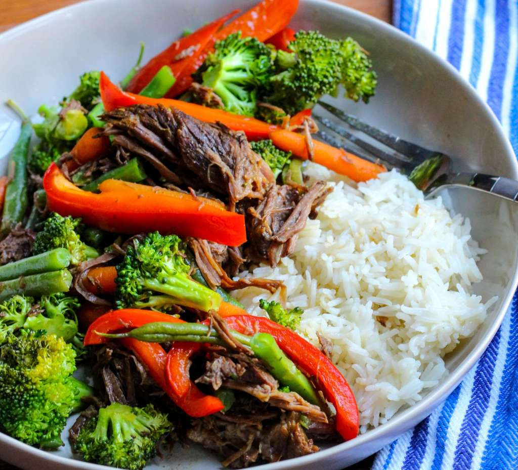 Veggie-Packed Slow Cooker Asian Beef and Broccoli