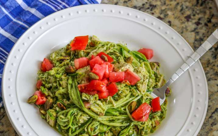 Whole30 Pesto Chicken Zoodles