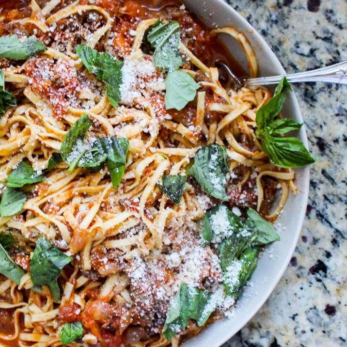 Instant Pot Spaghetti Bolognese Sauce