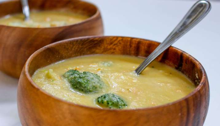 Skinny Secret Ingredient Broccoli Cheese Soup
