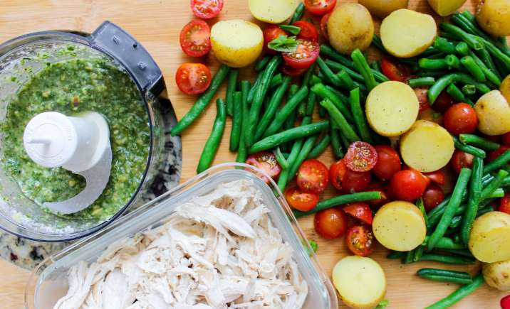 pesto chicken potato salad 9.8.17