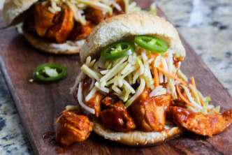 Easy Weeknight BBQ Chicken Sandwiches