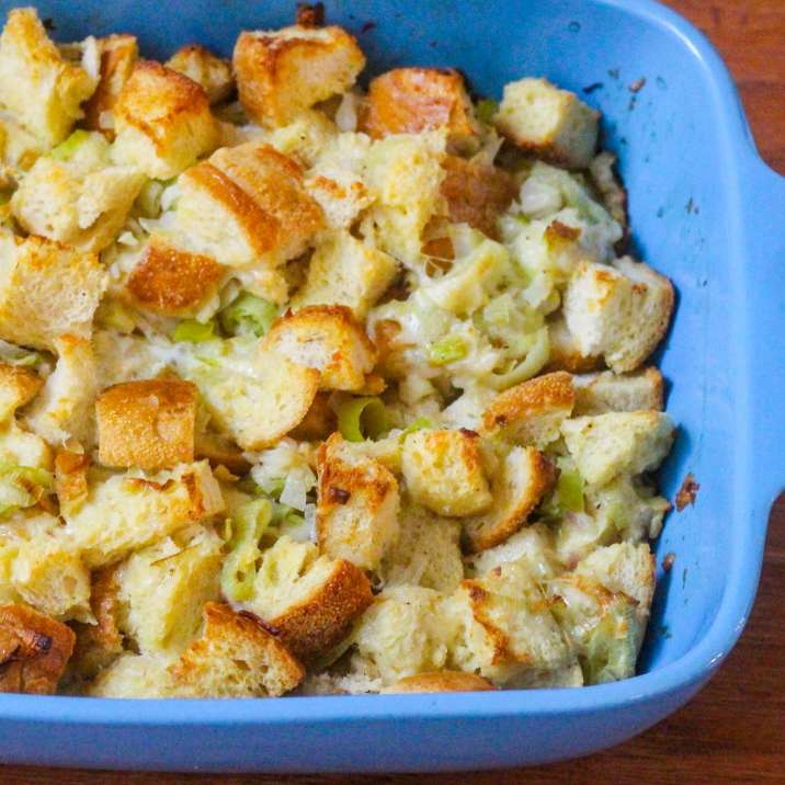 Cheesy Sourdough Stuffing