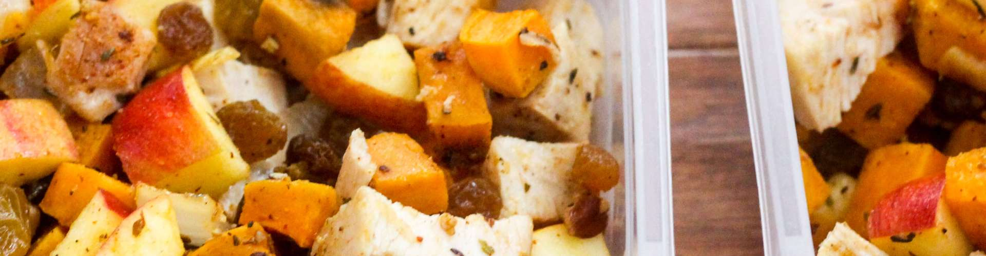 Paleo Meal Prep: Chicken, Sweet Potato, and Apple Salad