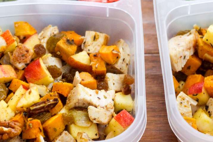 Paleo Meal Prep: Chicken, Sweet Potato, and Apple Salad
