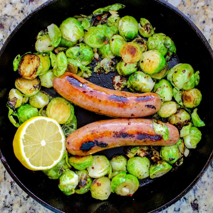Paleo Sausage and Brussels Sprouts