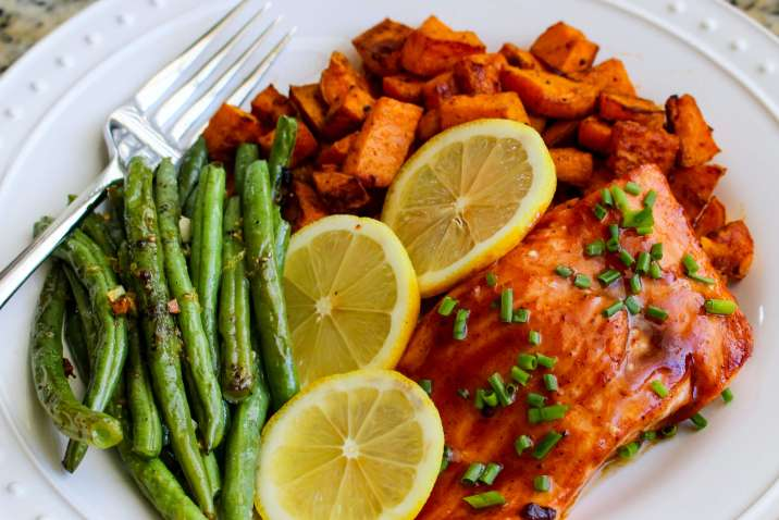Sheet Pan BBQ Salmon