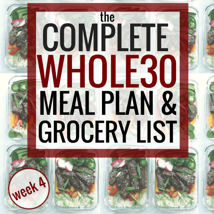 The Complete Whole30 Meal Planning Guide and Grocery List: Week 4