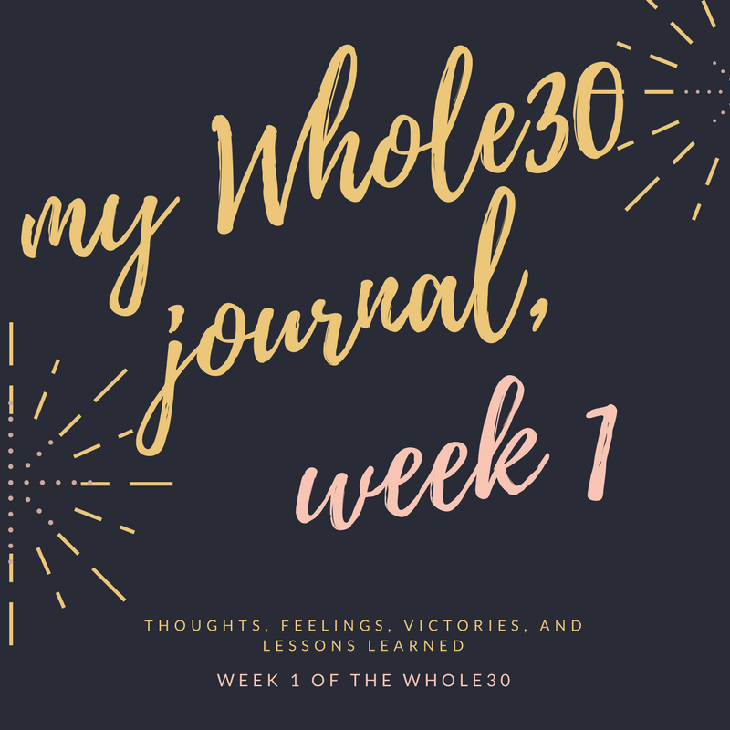 My Whole30 Experience and Journal: Week 1