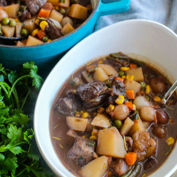 Weeknight Beef Stew with Horseradish