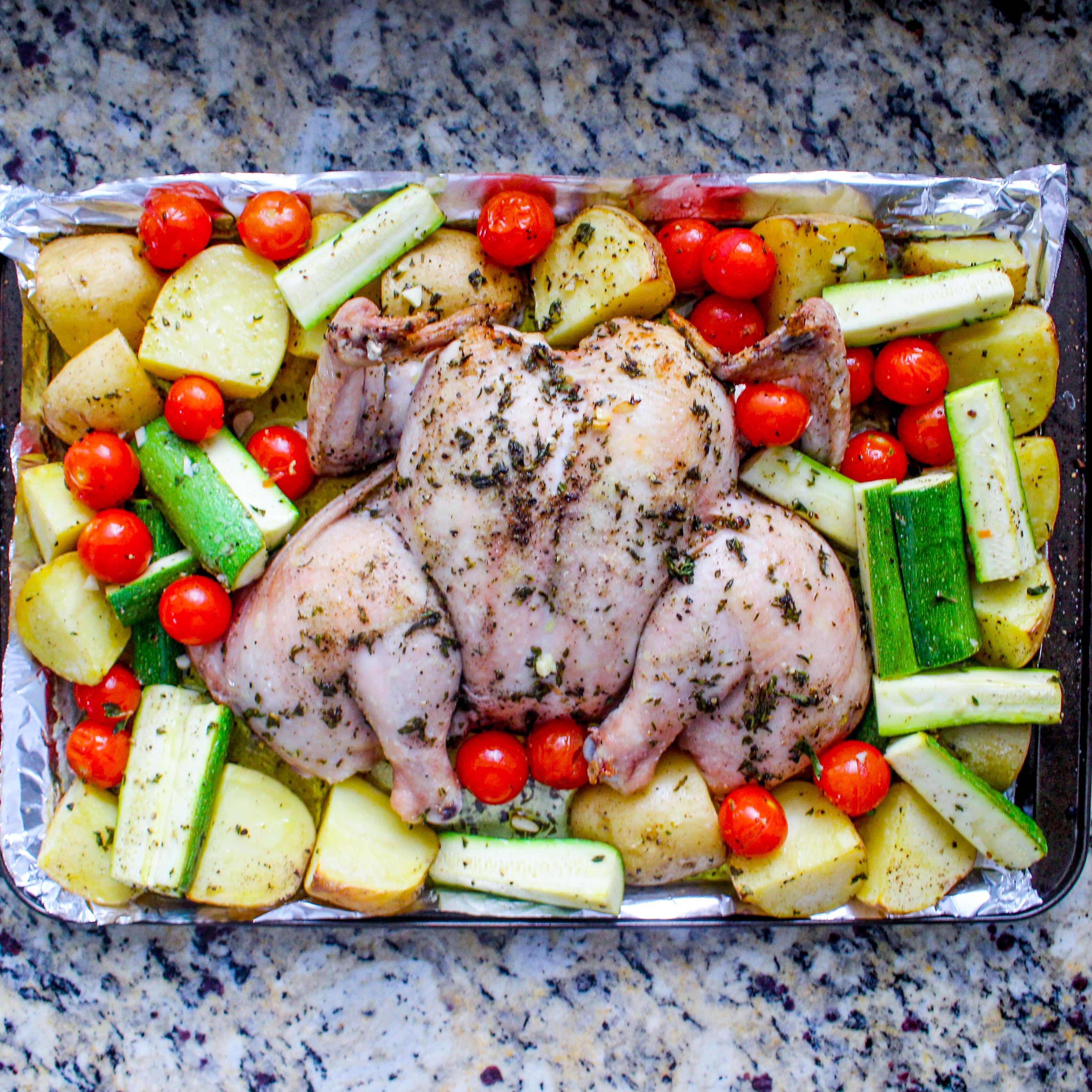 Simple Sheet Pan Spatchcock Chicken