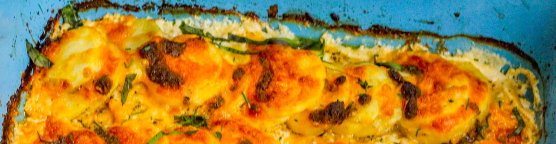 Herbed Potatoes Au Gratin with Pesto