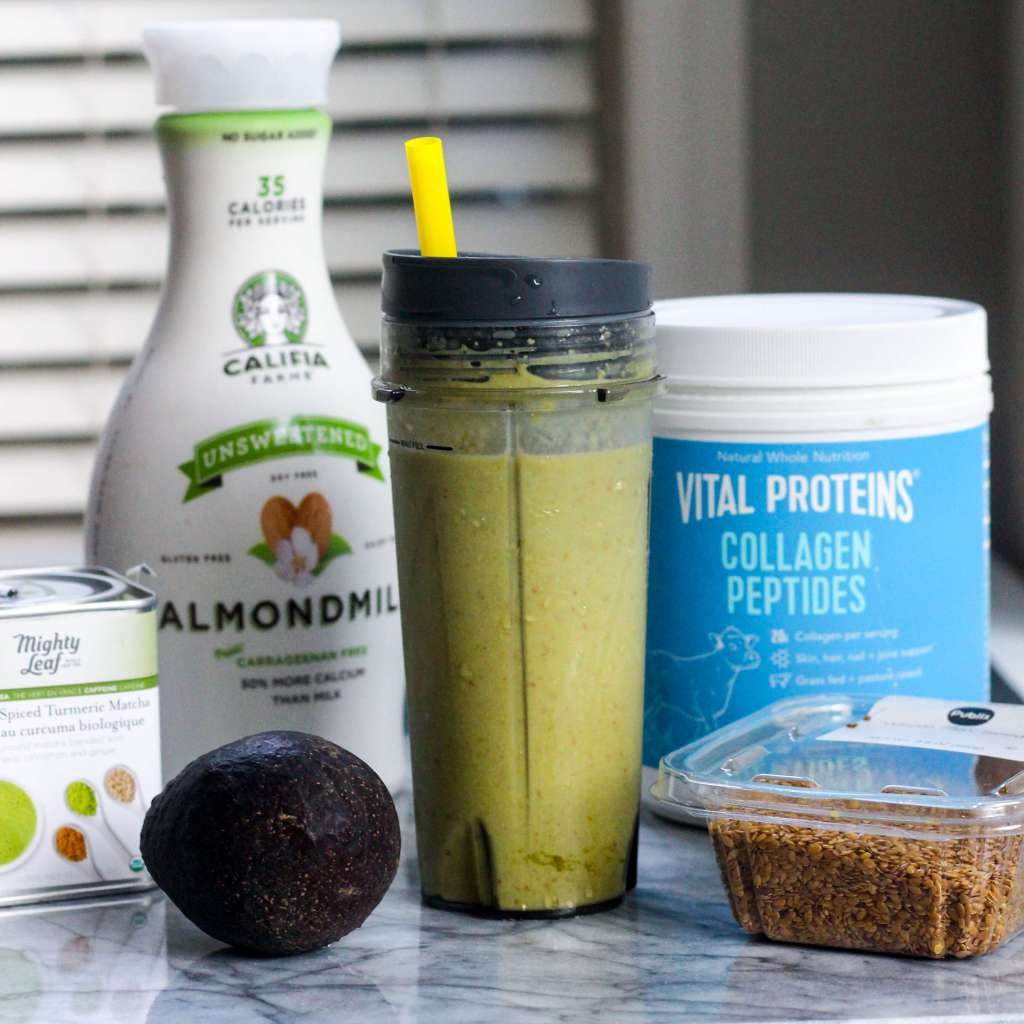 Protein-Packed Matcha Collagen Smoothie