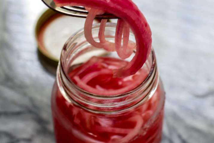 Quick and Easy Pickled Red Onions