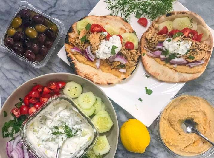 Slow Cooker Greek Chicken Tacos