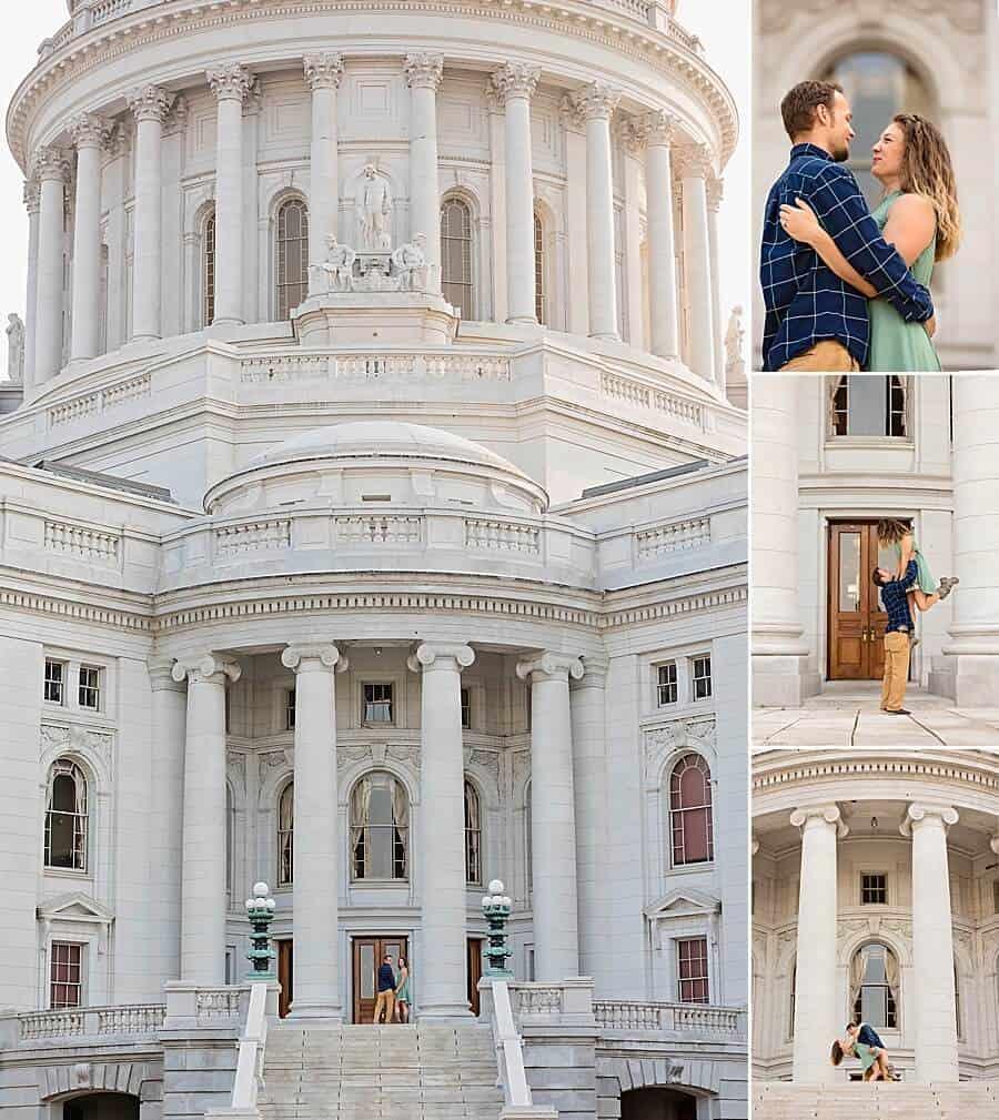 Madison Capitol Building Engagement Photos