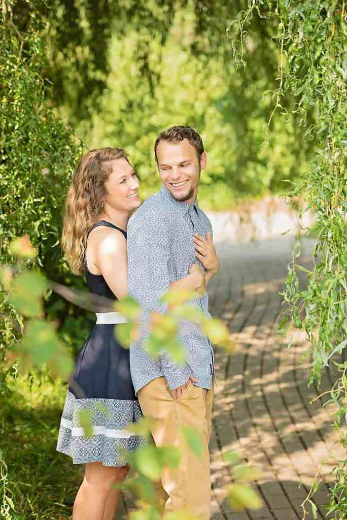 Olbrich Botanical Gardens Madison Engagement Photos
