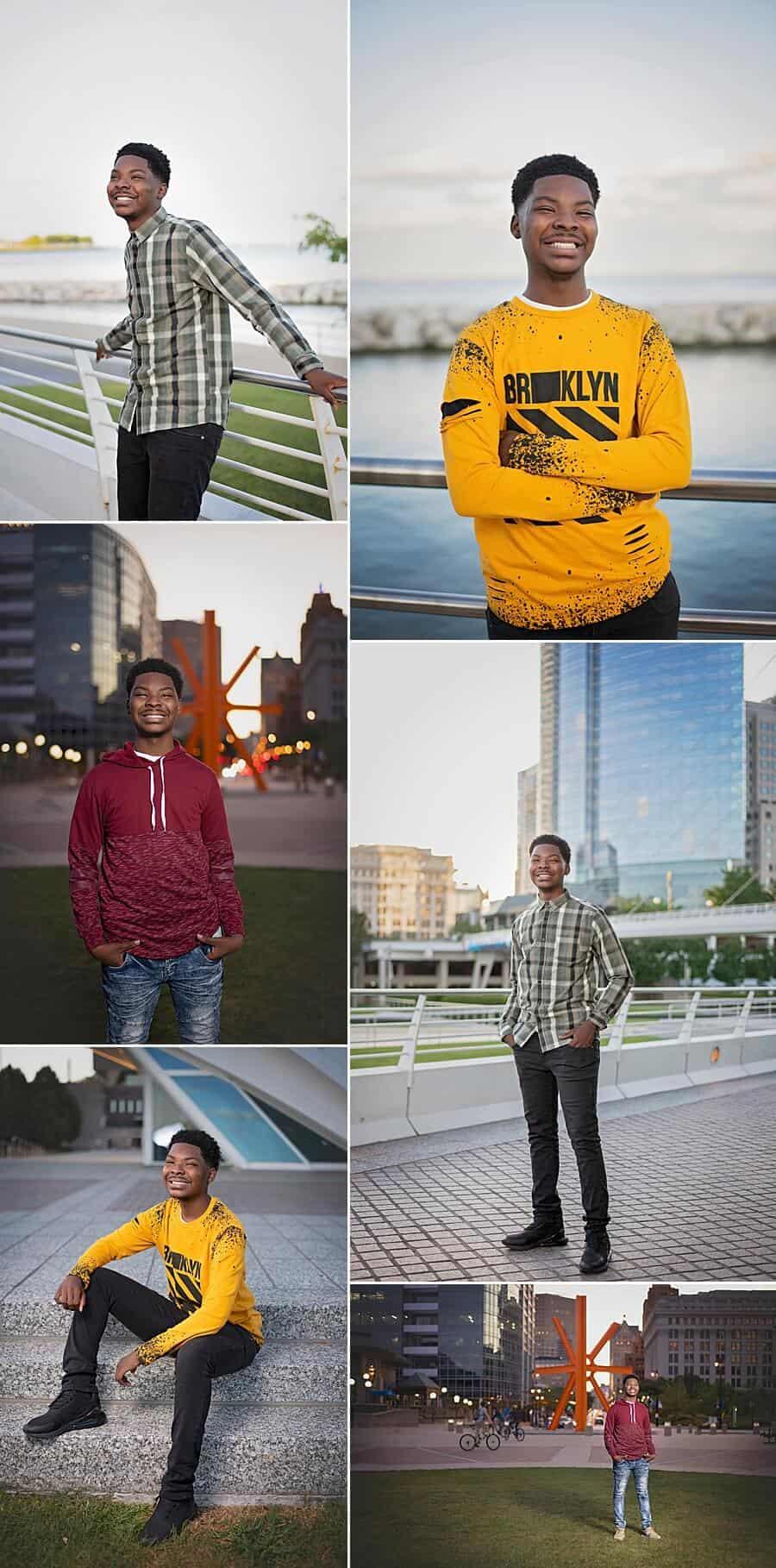 Milwaukee Senior Photos at Milwaukee Art Museum